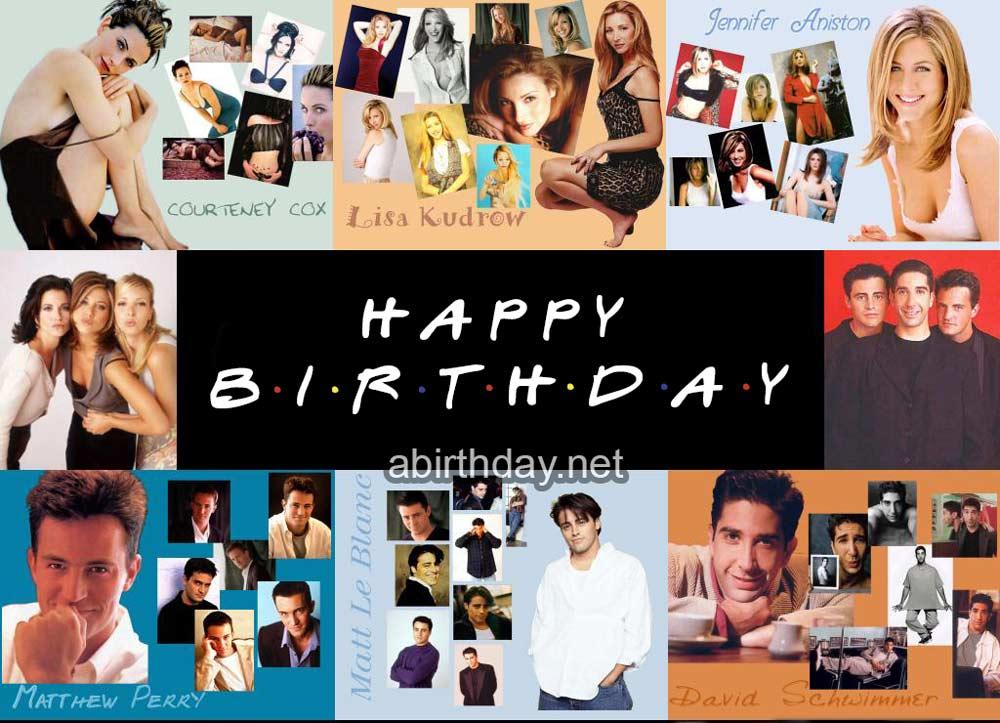 Friends Collage Birthday Meme