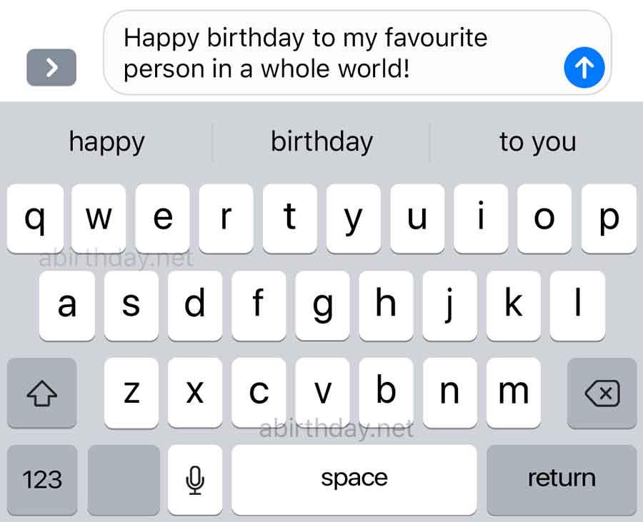 iPhone Keyboard Happy Birthday